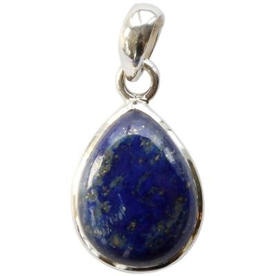 Pendentif argent goutte Lapis Lazuli (PM)