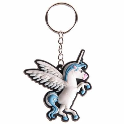 Porte-clefs Licorne Bleu