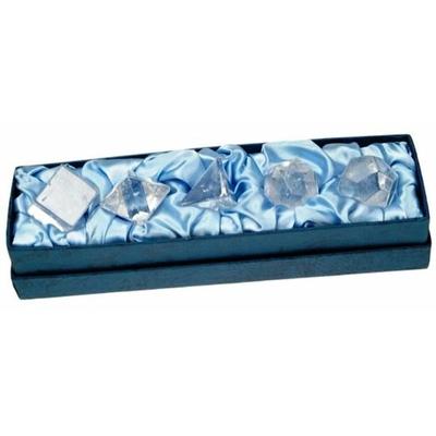 Solides de Platon en Cristal de Roche ( Coffret )