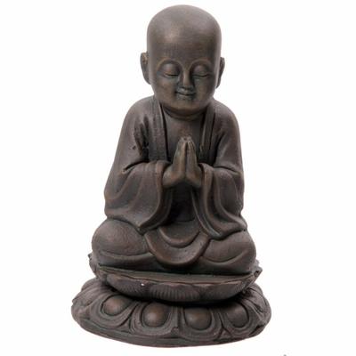 Moine Tibétain en Méditation, Bronze ( 20 cm )
