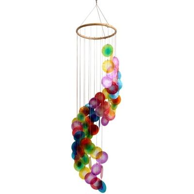 Mobile coquillages - Arc-en-Ciel - Spirale ( 80 cm )