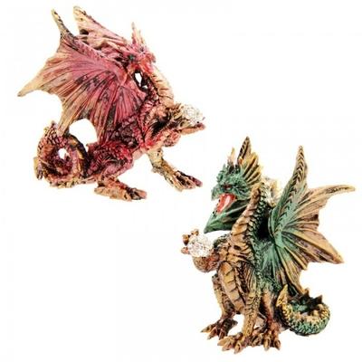 Dragon 'Dark Legends' Avec Boule De Cristal ( Lot de 2 )