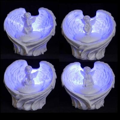 Ailes d'Anges à LED Avec Chérubin ( Le lot de 4 )