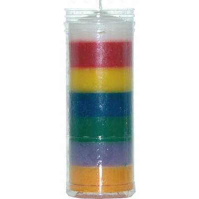 Bougie 7 couleurs ( 16cm )