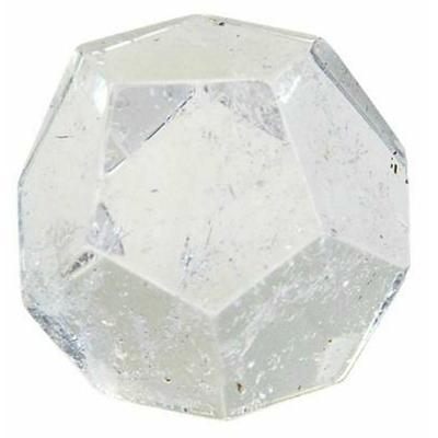 Dodécaèdre en Cristal de roche ( 2 cm )