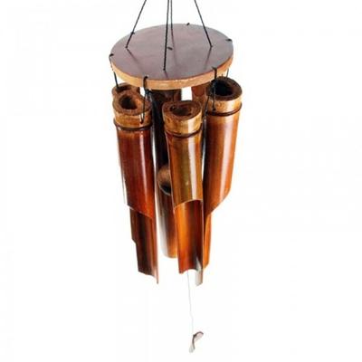 Carillon à vent Bambou foncé 6 tubes, Moyen