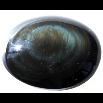 Galet Obsidienne Arc-en-ciel ( 4 à 5 cm ) -Qualité AAA-