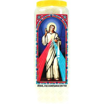 Bougie de Neuvaine ( Jésus, j'ai confiance en toi )