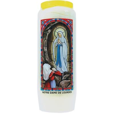 Bougie de Neuvaine ( Notre Dame de Lourdes )