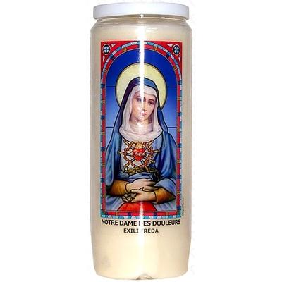 Bougie de Neuvaine ( Notre Dame des douleurs - Exili Freda )