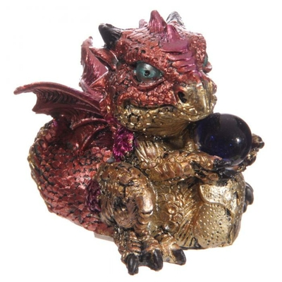 Bébé Dragon Rouge avec boule