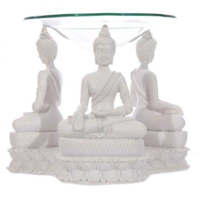 Bouddha Thailandais Blanc - Brûleur A Huile