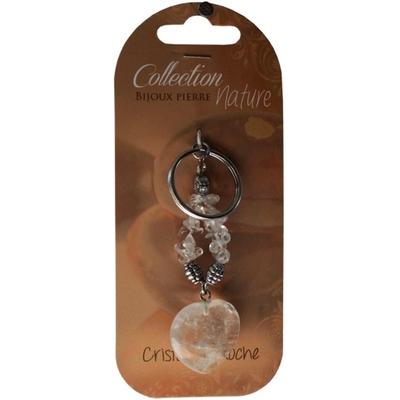 Porte clés Coeur en Cristal de Roche