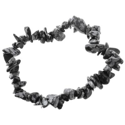 Bracelet Obsidienne flocon ( Baroque )