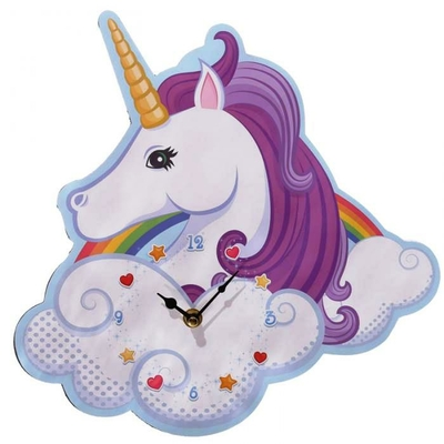 Horloge Licorne Arc-en-ciel (31 cm)