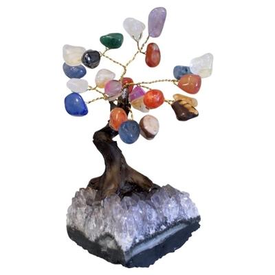 Arbre du Bonheur Quartz Multicolore (11 cm)