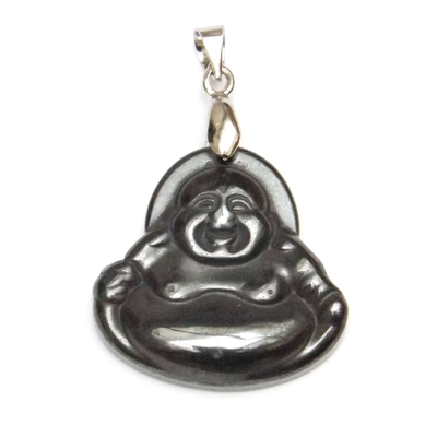 Pendentif Bouddha Hématite