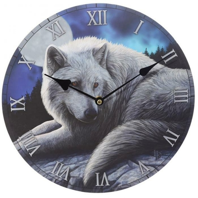 Horloge Loup - Le gardien du Nord (Par Lisa Parker)