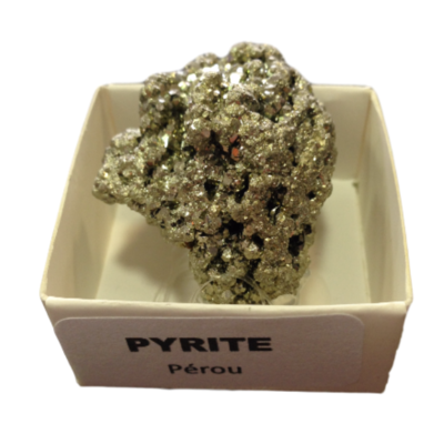 Pyrite du Pérou (petite) La pièce