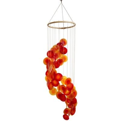 Mobile coquillages - Jaune Orange et Rouge - Spirale