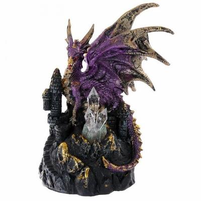 Figurine Dragon Violet Tour de Cristal (19 cm)