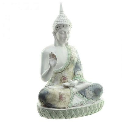 Bouddha Thaï Sagesse Blanc (28 cm)
