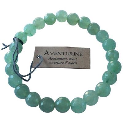 Bracelet Aventurine Perles facettées (8 mm)