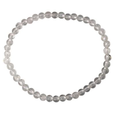 Bracelet Cristal Quartz Perles Rondes (4 mm)