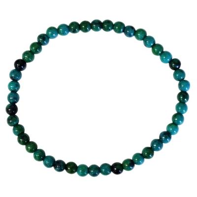 Bracelet Chrysocolle Perles Rondes (4 mm)