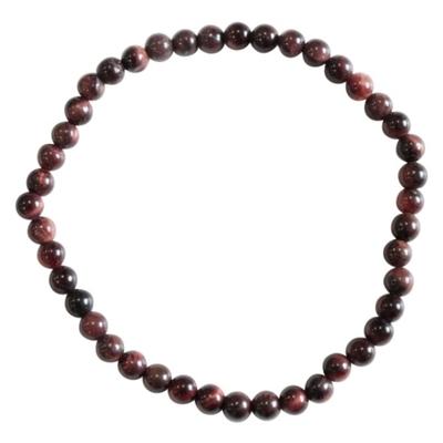 Bracelet Oeil de Taureau Perles Rondes (4 mm)