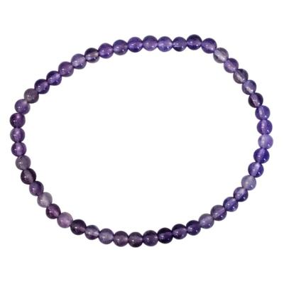Bracelet Améthyste Perles Rondes (4 mm)