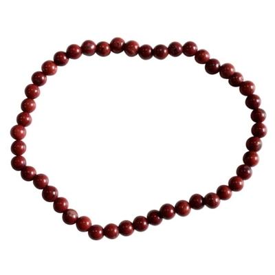 Bracelet Jaspe Rouge Perles Rondes (4 mm)