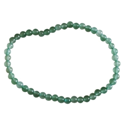 Bracelet Aventurine Perles Rondes (4 mm)