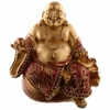 FIGURINE BOUDDHA CHINOIS OR ET ROUGE (13 CM)  BUD294 (2)