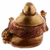 FIGURINE BOUDDHA CHINOIS OR ET ROUGE (13 CM)  BUD294 (4)