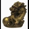 STATUETTE DRAGON SIGNE CHINOIS - LAITON DORÉ (5CM)  58570 (2)