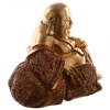 Figurine Bouddha Chinois Or et Rouge (16 cm) (1)