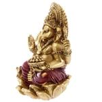 Statue Ganesh Rouge et Or 16cm - 2