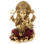 Statue Ganesh Rouge et Or 16cm - 1