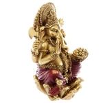 Statue Ganesh Rouge et Or 16cm - 4
