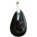 Pendentif Obsidienne Oeil Céleste double face 40110