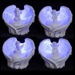 Ailes d'Anges à LED Avec Chérubin ( Le lot de 4 )  CHE64-Lo