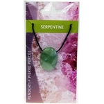 Pendentif pierre ovale percée - Serpentine  32247 (2)