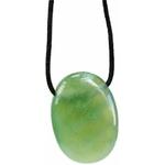 Pendentif pierre ovale percée - Serpentine  32247