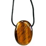 Pendentif pierre ovale percée - Oeil de tigre  32245