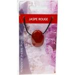 Pendentif pierre ovale percée - Jaspe rouge  32244 (2)