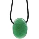 Pendentif pierre ovale percée - Aventurine Verte  32240 (2)