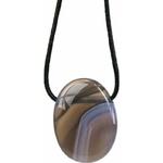 CaptuPendentif pierre ovale percée - Agate Rubanée  32238rer (2)