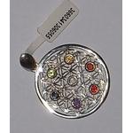 Pendentif argent Fleur de Vie Pierres des Chakras  30605 (3)