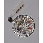 Pendentif argent Fleur de Vie Pierres des Chakras  30605 (4)